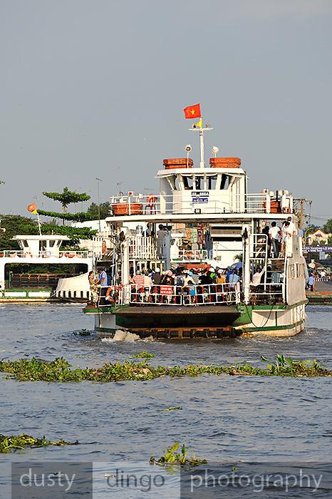 Commuter ferry crossing the Saigon River, Ho Chi Minh City (Saigon), Vietnam