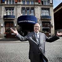 Nederland, Amsterdam , 24 april 2013..Mohamed Bouanani, concierge bij het Krasnapolski hotel voor de serie de aanloop naar 30 april..Foto:Jean-Pierre Jans