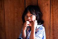 Cute Iban kids at Nanga Sumpa Longhouse in Sarawak.