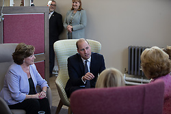 © Licensed to London News Pictures . 14/09/2017 . Liverpool , UK . The Duke of Cambridge , Prince William , meets service users from the Women's Addiction Group Support ( WAGS ) group during a visit to Life Rooms in Walton . Life Rooms provides community support to help people recover from mental health issues . Photo credit : Joel Goodman/LNP