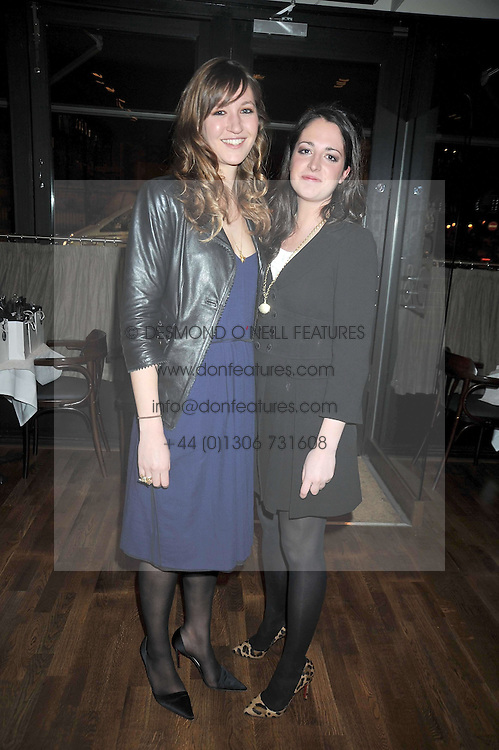 Left to right, MIMA LOPES and LUCY RAMSAY at the opening of the Brompton Bar & Grill, 243 Brompton Road, London SW3 on 11th March 2009.
