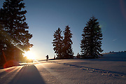 Ski trip at the Jackal Hut near Leadville, Colorado