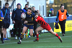 Stacey Maguire of Worcester Valkyries holds off Rosie Galligan of Saracens Women- Mandatory by-line: Nizaam Jones/JMP - 01/12/2018 - RUGBY - Sixways Stadium - Worcester, England - Worcester Valkyries v Saracen Women- Tyrrells Premier 15s