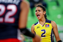 Winifer Maria Fernandez Perez of Dominican Republic celebrates during the volleyball match between National team of Slovenia and Dominican Republic in Preliminary Round of Womens U23 World Championship 2017, on September 4, 2017 in SRC Stozice, Ljubljana, Slovenia. Photo by Morgan Kristan / Sportida