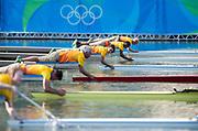 "Rio de Janeiro. BRAZIL. CAN W1X, Carling SEEMEN, Women's Single Quarter Final.   2016 Olympic Rowing Regatta. Lagoa Stadium,<br /> Copacabana,  ""Olympic Summer Games""<br /> Rodrigo de Freitas Lagoon, Lagoa.   Tuesday  09/08/2016 <br /> <br /> [Mandatory Credit; Peter SPURRIER/Intersport Images]"