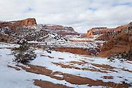 Tsegi Canyon, winter, near Monument Valley, Arizona