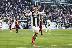October 20, 2018 - Turin, Italy - Juventus forward Cristiano Ronaldo (7) celebrates after scoring his goal during the Serie A football match n.9 JUVENTUS - GENOA on 20/10/2018 at the Allianz Stadium in Turin, Italy. (Credit Image: © Matteo Bottanelli/NurPhoto via ZUMA Press)