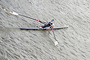 London, Great Britain, Andrea DENNIS, Reading University BC. passes under Chiswick Bridge at the start of the 2009 Scullers Head of the River Race, raced over the Championship Course, Mortlake to Putney, on the River Thames. 12:47:53  Saturday  28/11/2009,  [Mandatory Credit: © Peter Spurrier/Intersport Images]