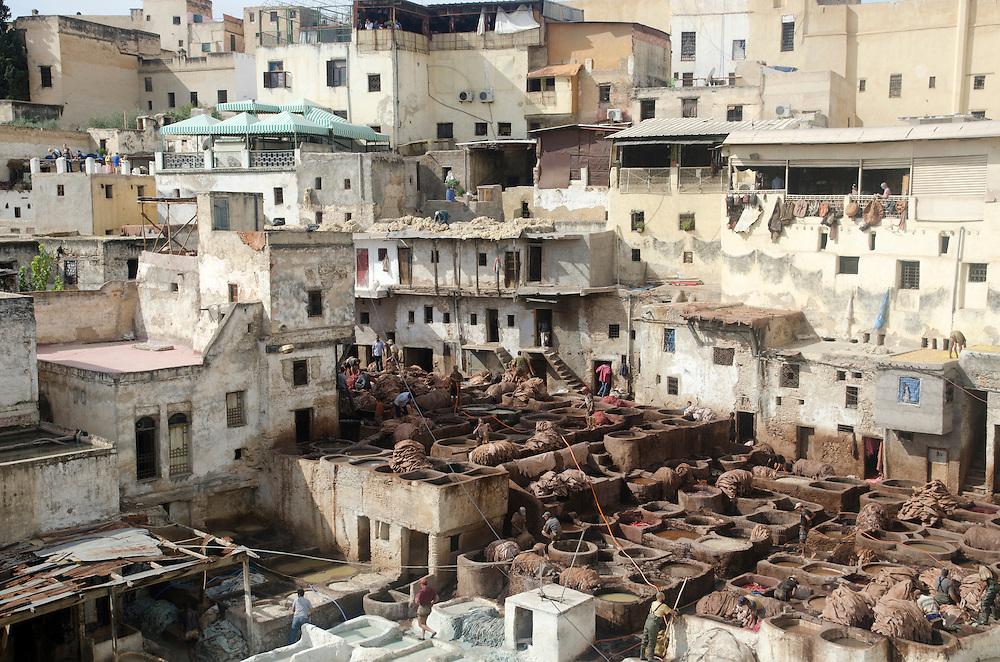 Chouwara tanneries, Fes medina, Morocco