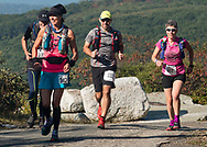 Cragsmoor, New York  - Runners in the 30-mile race follow the trail near Sam's Point during the Shawangunk Ridge Trail Run/Hike on Sept. 16, 2017.