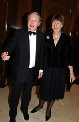 The EARL & COUNTESS DE LA WARR at the 2004 Cartier Racing Awards in association with the Daily Telegraph, held at the Four Seasons Hotel, London on 17th November 2004.<br />