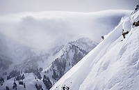 Some place between heaven and earth, Caroline Gleich in her happy place, Wasatch Range, Utah.