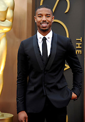 Michael B. Jordan arriving to the 2014 Oscars at the Hollywood and Highland Center in Hollywood, California, USA,  Sunday, 2nd March 2014. Picture by Hollywood Bubbles / i-Images<br /> UK ONLY