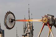 Lotte World Magic Island amusement park. Swinging wheel.