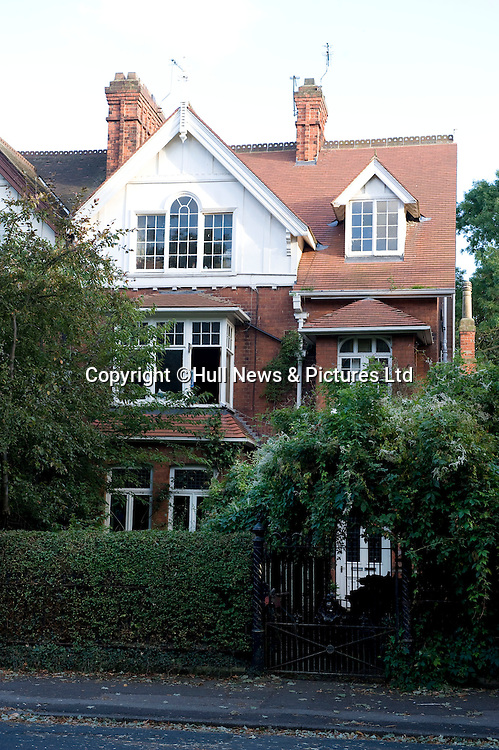 23 August 2014: The top floor room Philip Larkin rented when he lived in Hull, East Yorkshire. The room overlooked Pearson Park and the poet wrote much of his best poetry while living there.<br /> Picture: Sean Spencer/Hull News & Pictures Ltd<br /> 01482 772651/07976 433960<br /> www.hullnews.co.uk   sean@hullnews.co.uk