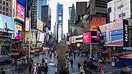 NEW YORK  2020V10<br /> Times Square, söndag vid lunchtid.<br /> <br /> Foto: Per Danielsson/Projekt.P