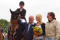 Everse Mischa (NED) - Cupido and his breeder Hans De Roover<br /> Winner 4 year old horses<br /> KWPN Paardendagen 2011 - Ermelo 2011<br /> © Dirk Caremans