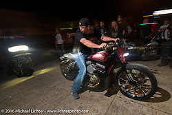 Zach Johnson at Bill Dodge's 3rd annual get-together at Blings Cycles during Daytona Bike Week 75th Anniversary event. FL, USA. Wednesday March 9, 2016.  Photography ©2016 Michael Lichter.