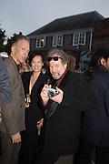 JEFFERSON HACK; MIKE FIGGIS, 2016 SERPENTINE SUMMER FUNDRAISER PARTY CO-HOSTED BY TOMMY HILFIGER. Serpentine Pavilion, Designed by Bjarke Ingels (BIG), Kensington Gardens. London. 6 July 2016