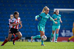 CHESTERFIELD, ENGLAND - Sunday, April 25, 2021: Liverpool's Missy Bo Kearns during the FA Women's Championship game between Sheffield United FC Women and Liverpool FC Women at the Technique Stadium. Liverpool won 1-0. (Pic by David Rawcliffe/Propaganda)
