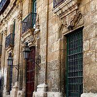 Central America, Cuba, Havana. Old Havana architecture.