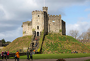 The Norman Keep inside Cardiff castle, Cardiff, South Wales, UK