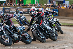AMA flattracker (no. 20) Jarod Vanderkooi on his Harley-Davidson XG750R Rev X racer in the AMA Flat track racing at the Sturgis Buffalo Chip during the Sturgis Black Hills Motorcycle Rally. Sturgis, SD, USA. Sunday, August 4, 2019. Photography ©2019 Michael Lichter.