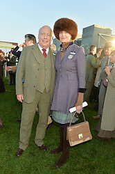 LADY EMMA KITCHENER-FELLOWES and LORD FELLOWES at the 2014 Hennessy Gold Cup at Newbury Racecourse, Newbury, Berkshire on 29th November 2014.  The Gold Cup was won by Many Clouds ridden by Leighton Aspell.