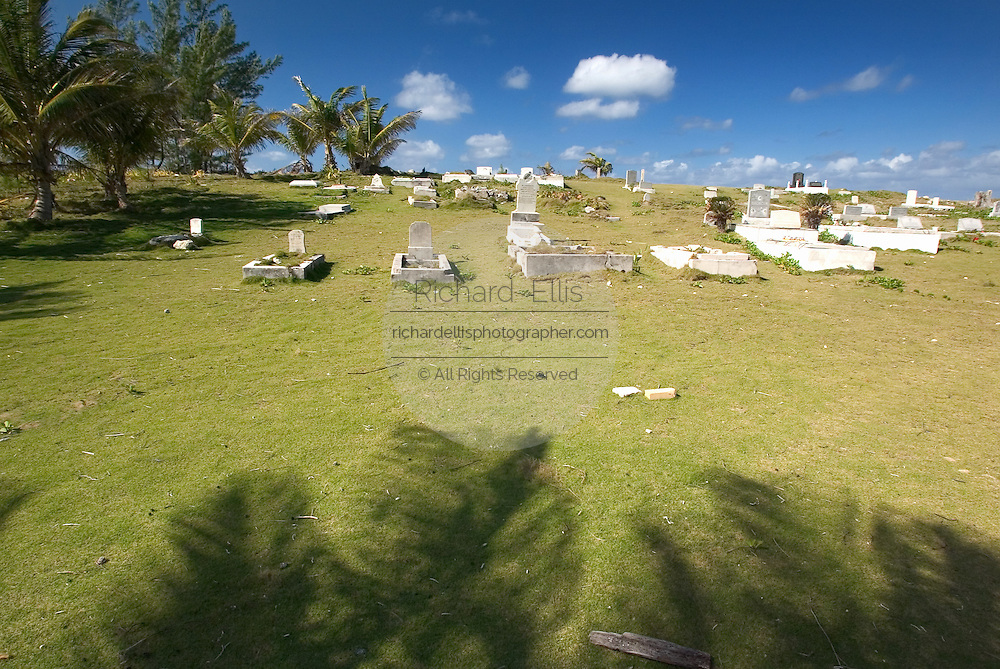 Original colonial cemetery in Alice Town on the tiny Caribbean island of Bimini, Bahamas.