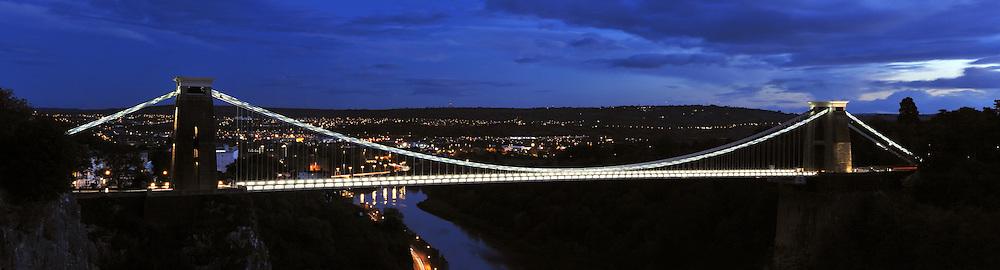 Bristol Clifton suspension bridge hdr