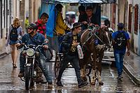 Street scene, Baracoa Cuba 2020 from Santiago to Havana, and in between.  Santiago, Baracoa, Guantanamo, Holguin, Las Tunas, Camaguey, Santi Spiritus, Trinidad, Santa Clara, Cienfuegos, Matanzas, Havana