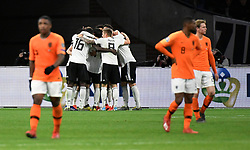 March 24, 2019 - Amsterdam, France - Germany's Nico Schulz celebrates scoring their third goal with team mates (Credit Image: © Panoramic via ZUMA Press)