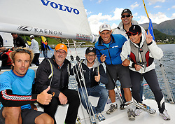 Francesco Bruni and his guests for the Corviglia Challenge. Photo:Chris Davies/WMRT