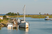 Fishing boat at Knapps Narrows, Tilghman Island, Maryland USA