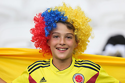 June 24, 2018 - Kazan, Russia - A young Colombia's fan smiles during the Russia 2018 World Cup Group H football match between Poland and Colombia at the Kazan Arena in Kazan on June 24, 2018. Colombia won 0-3. (Credit Image: © Foto Olimpik/NurPhoto via ZUMA Press)