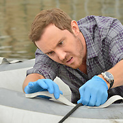"""ROSEWOOD: Sam Huntington in the """"Boatopsy & Booty"""" episode of ROSEWOOD airing Thursday, Oct. 13 (8:00-8:59 PM ET/PT) on FOX. ©2016 Fox Broadcasting Co. CR: Lisa Rose/FOX"""