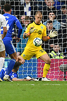 Football - 2018 /2019  Premier League - Cardiff City vs. Burnley<br /> <br /> Joe Hart of Burnley  saves , at the Cardiff City Stadium<br /> <br /> COLORSPORT/WINSTON BYNORTH