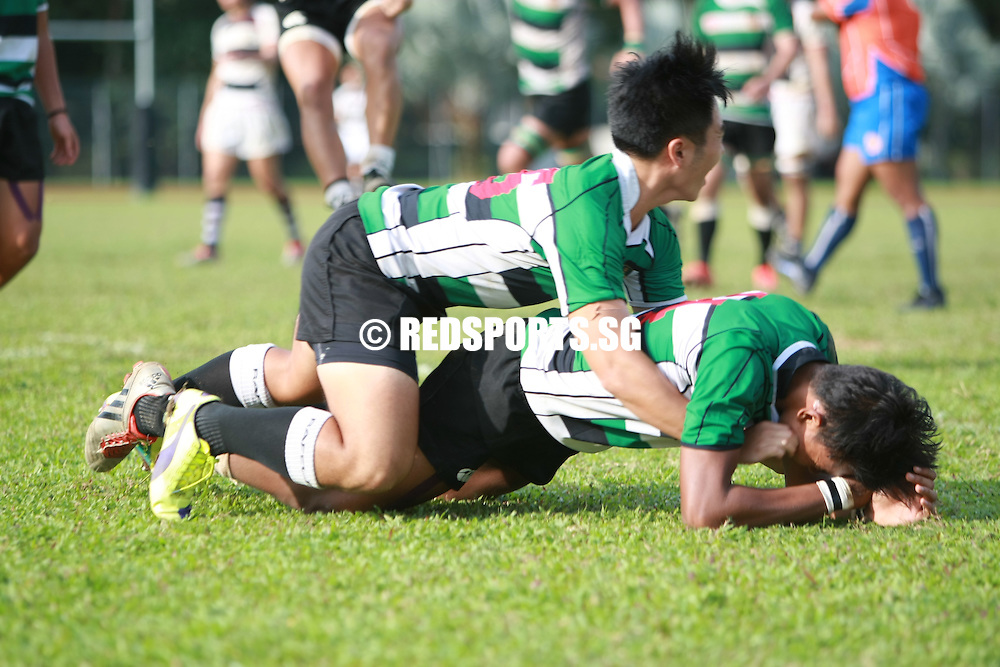 Evans Road, Friday, May 13, 2016 — Raffles Institution (RI) overcame a spirited Saint Andrew's Junior College (SAJC) 11–5 to move on to their first National A Division Rugby Championship final in three years.