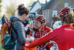 Elise Delzenne (Lotto Soudal) back racing at Omloop van Borsele 2016 after a hip fracture delayed the start to her season. A 139 km road race starting and finishing in 's-Heerenhoek, Netherlands on 23rd April 2016.