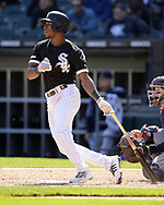 CHICAGO - MAY 14:  Tim Anderson #7 of the Chicago White Sox bats against the Cleveland Indians on May 14, 2019 at Guaranteed Rate Field in Chicago, Illinois.  (Photo by Ron Vesely)  Subject:  Tim Anderson