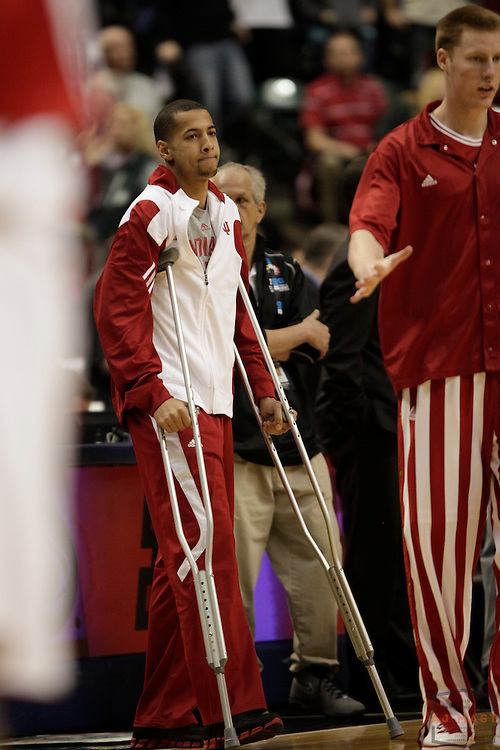 09 March 2012: Wisconsin Badgers forward/center Jared Berggren (40) as the Indiana Hoosiers played the Wisconsin Badgers in a college basketball game during the Big 10 Men's Basketball Championship in Indianapolis
