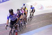 Koppelkoers op de wielerbaan. In Amsterdam vindt de Zesdaagse van Amsterdam plaats, een groots wielerevenement in het velodrome.<br /> <br /> The Six Days of Amsterdam, a major cycling event in the velodrome.
