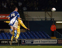 Photo: Ashley Pickering.<br />Ipswich Town v Preston North End. Coca Cola Championship. 17/10/2006.<br />Alan Lee heads in Ipwich's second goal