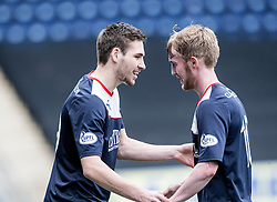 Falkirk's Luke Leahy on for Falkirk's Craig Sibbald.<br /> half time : Falkirk v Cowdenbeath, Scottish Championship game played today at The Falkirk Stadium.<br /> © Michael Schofield.
