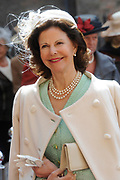 State visit of the Swedish king Carl XVI Gustaf and queen Silvia van Zweden to the Netherlands.<br /> <br /> On the Photo Queen Silvia arrives for a Goverment Lunch at theTrêveszaal.