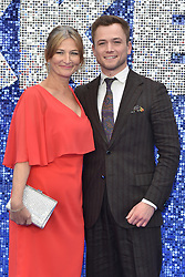 May 20, 2019 - London, United Kingdom - Christine Egerton and Taron Egerton are seen during the Rocketman UK Premiere at the Odeon Luxe Leicester Square in London. (Credit Image: © James Warren/SOPA Images via ZUMA Wire)