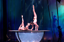Nevada, NV, Las Vegas,  famous Cirque du Soleil Zumanity, shot with permission but no model release, entertainment, dance show, large bowl of water, dancers, nude, Photo nv258-17014. .Copyright: Lee Foster, www.fostertravel.com, 510-549-2202,lee@fostertravel.com