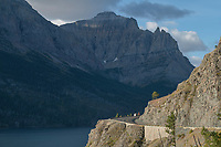 Overlook on Going-to-the-Sun Road at Saint Mary Lake, Glacier National Park