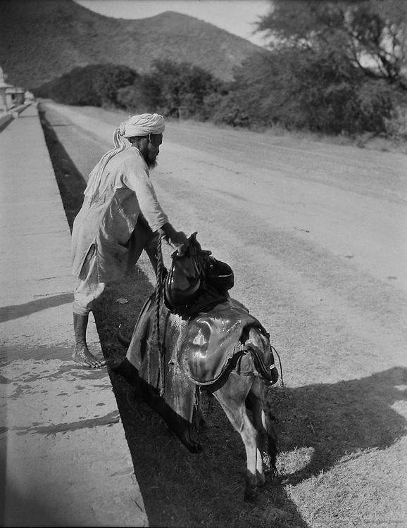 Filling Water Skins at Fateh Sagar Lake, Udaipur, India, 1929
