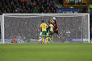 Norwich City Goalkeeper John Ruddy makes a save under pressure. EFL Cup, 3rd round match, Everton v Norwich city at Goodison Park in Liverpool, Merseyside on Tuesday 20th September 2016.<br /> pic by Chris Stading, Andrew Orchard sports photography.
